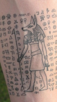 egyptian hieroglyphics tattoo